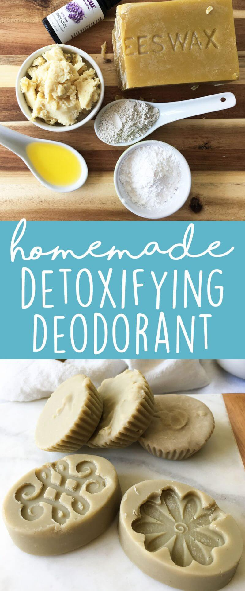 DIY Bentonite Clay Deodorant Bars - make your own deodorant with all-natural, non-toxic ingredients. This recipe is coconut oil-free and baking soda-free. (Homemade Bentonite Clay Deodorant) | karissasvegankitchen.com
