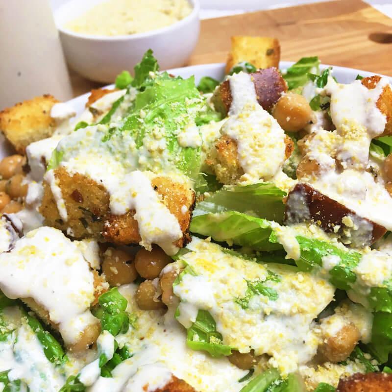 Vegan Caesar Salad Recipe With Creamy Caesar Dressing