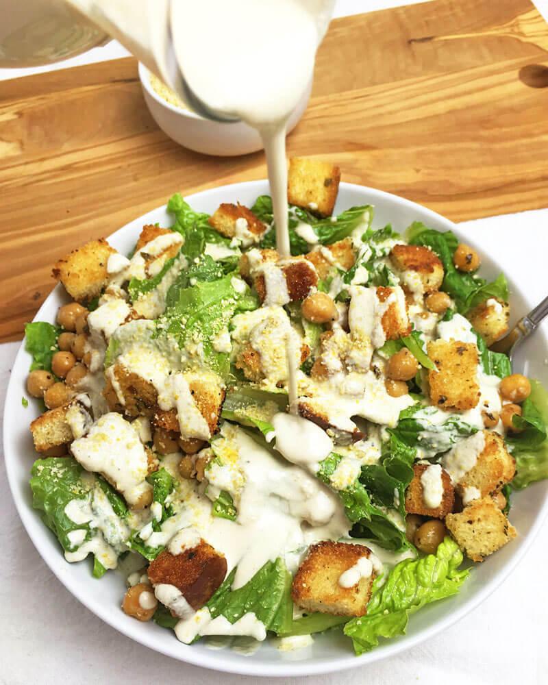 the best creamy vegan caesar salad dressing soy free. Black Bedroom Furniture Sets. Home Design Ideas