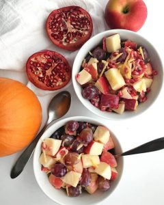 Healthy Fall Fruit Salad with Creamy Dressing (Vegan)