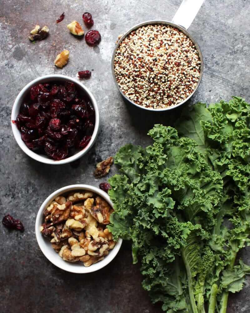 Kale & Cranberry Quinoa Salad