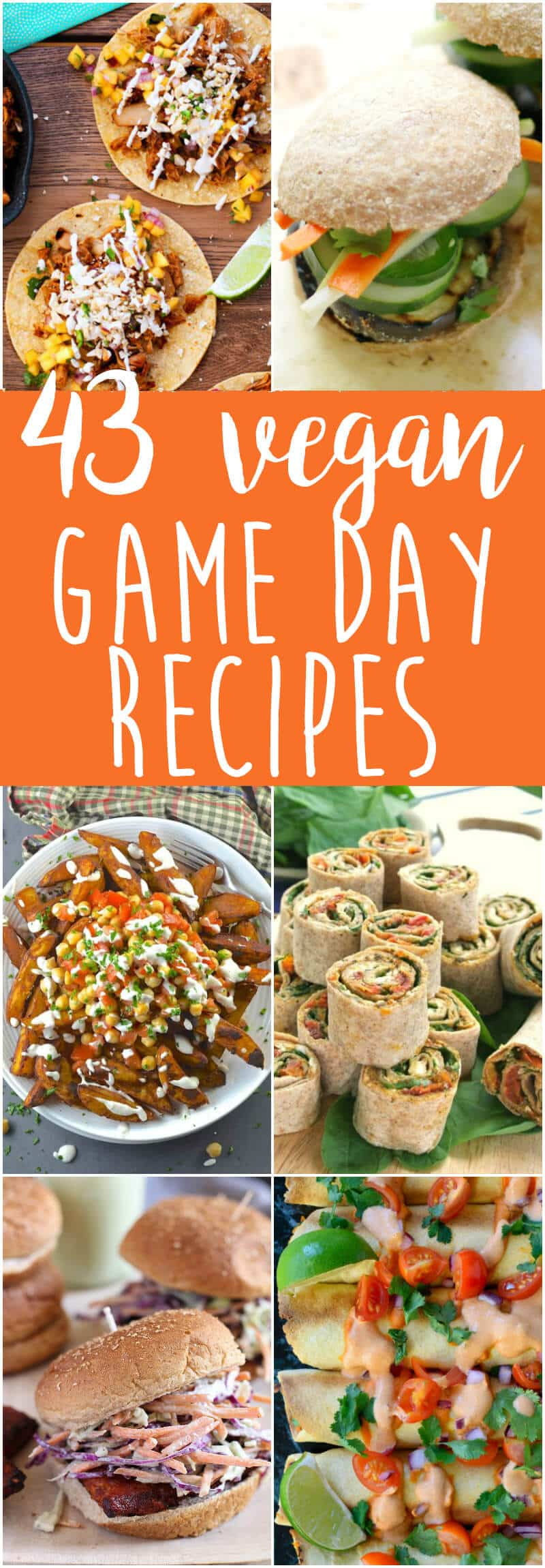 Vegan Game Day Food - from pizza to tacos to burgers to fries to nachos...get your game day appetizers / recipes here!