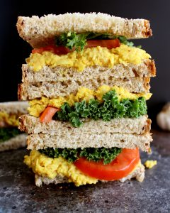 Easy Turmeric Chickpea Salad Sandwich