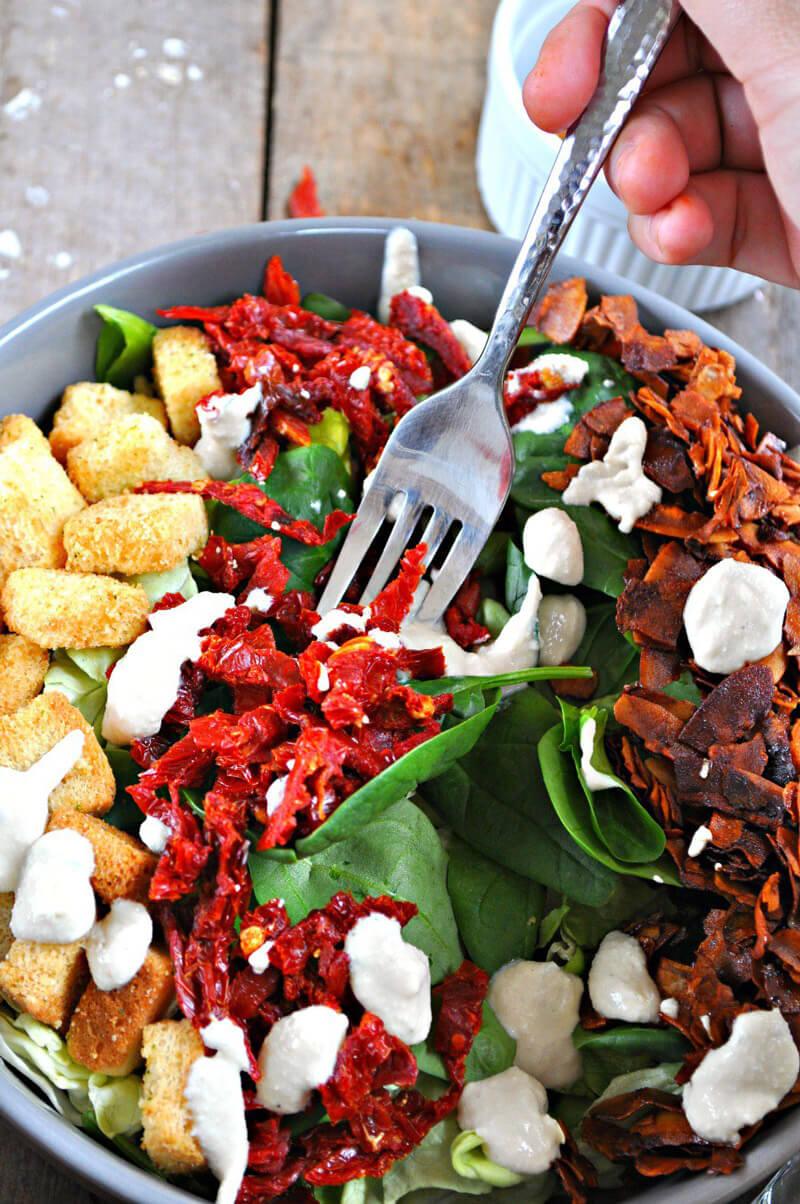 Hearty Vegan Salad Recipes - Vegan BLT Salad