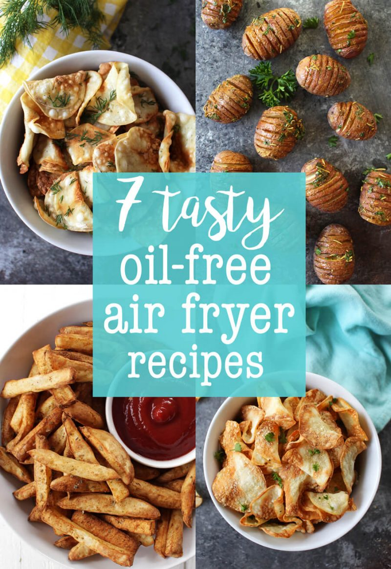 7 Tasty Oil-Free Air Fryer Recipes! A healthy method of frying, air fryer is all the rage right now. These recipes are vegan and HCLF compliant.
