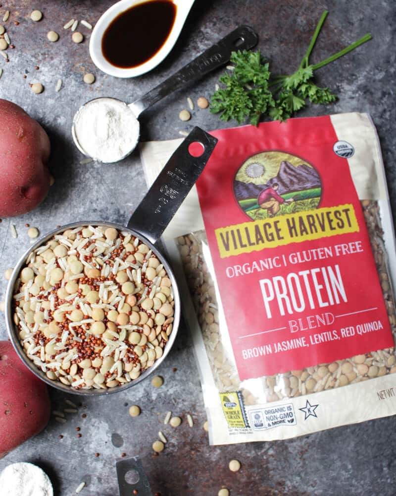 Vegan Potato Protein Burgers with Maple Mustard Sauce