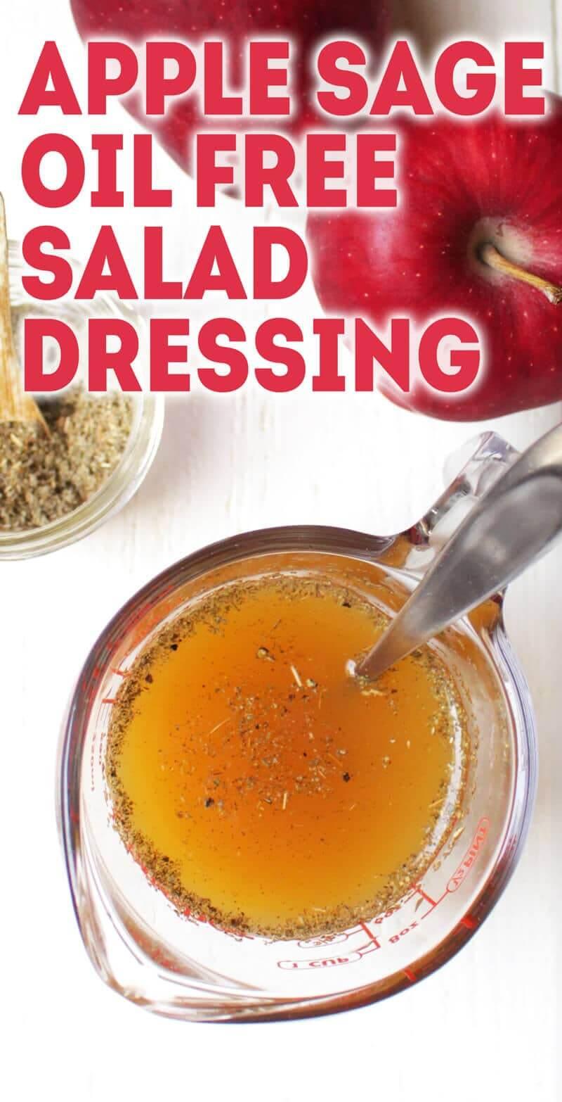 Apple Sage Oil-Free Salad Dressing - only 3 ingredients!