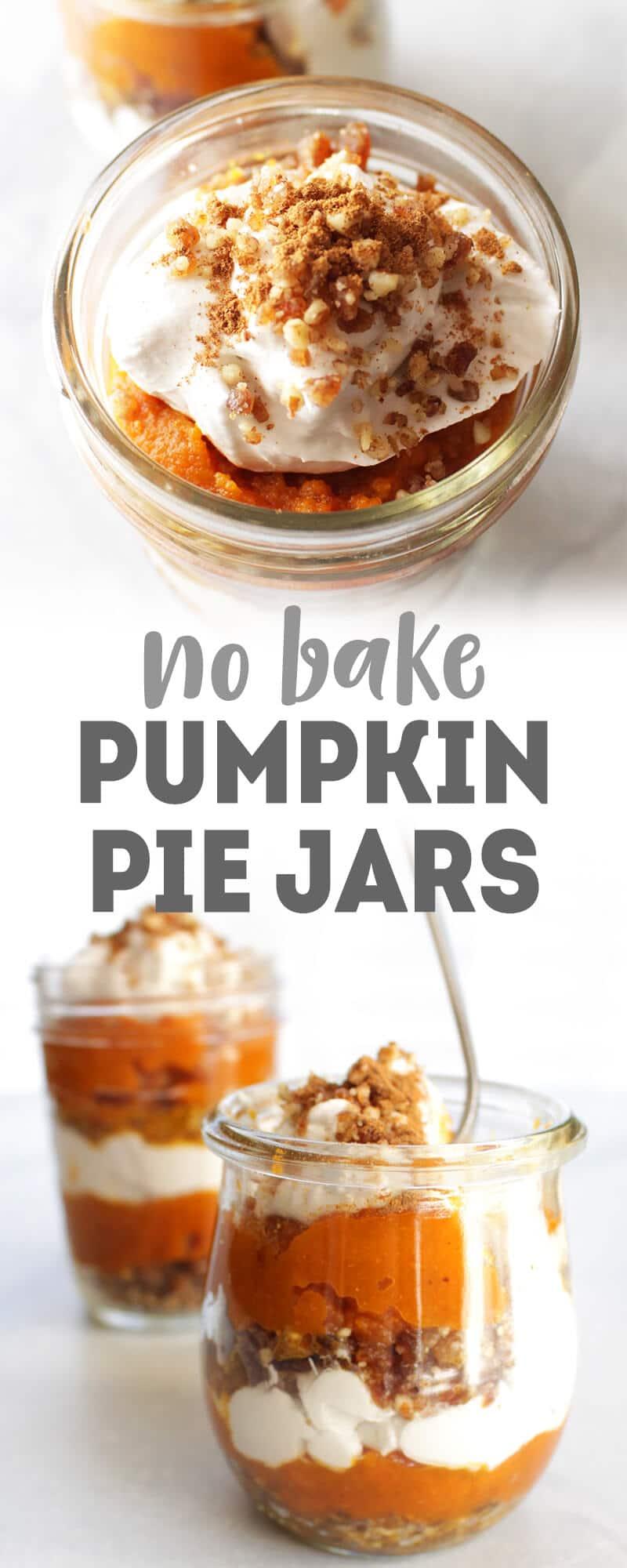 No-Bake VEGAN Pumpkin Pie Jars!