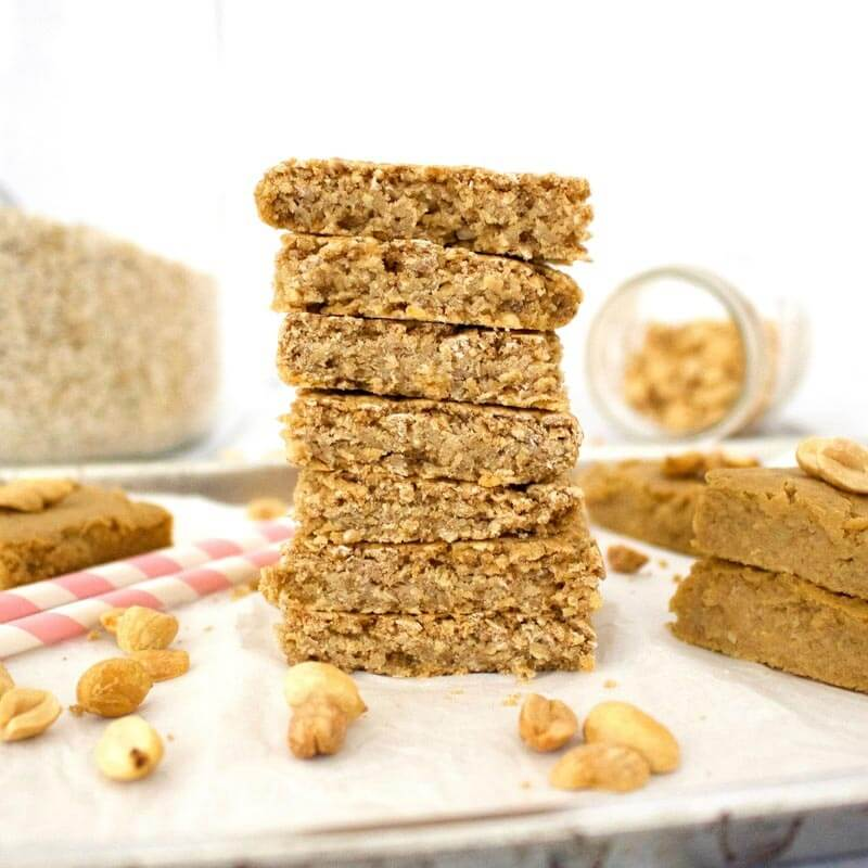healthy no oil vegan blondies