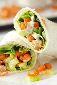 Easy Buffalo Chickpea Wraps