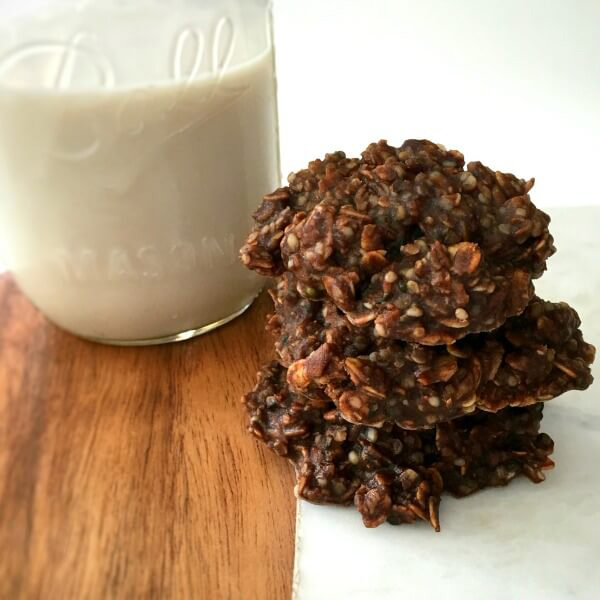Hemp Seed & Oatmeal Vegan No-Bake Cookies