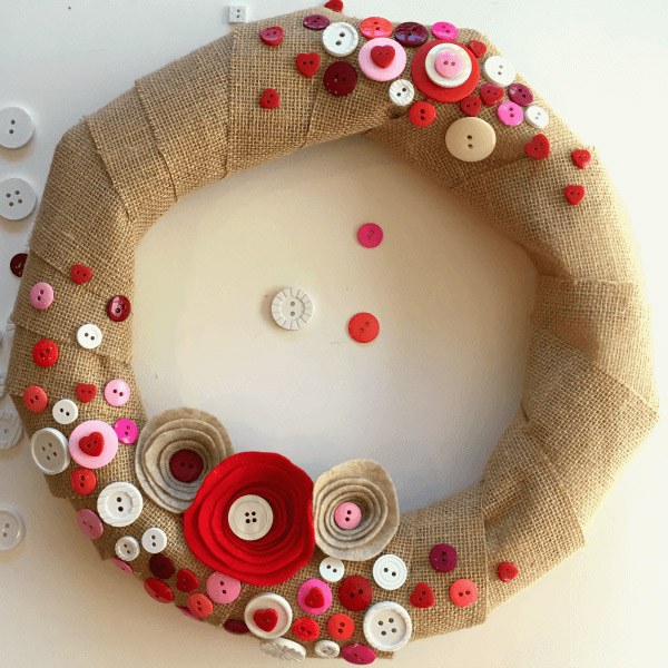 Upcycled Button Wreath DIY