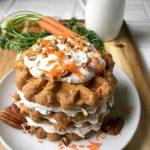 Vegan Carrot Cake Waffles