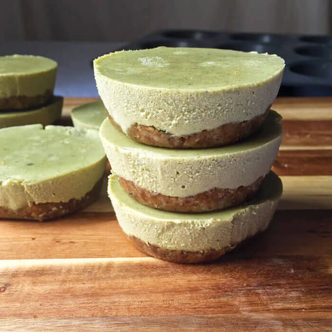 Hemp Seed Matcha Vegan Cheesecake