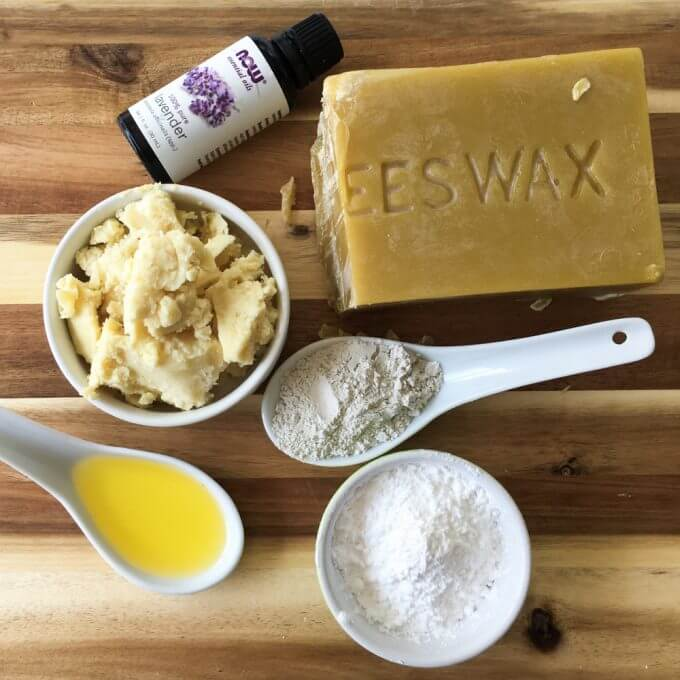 Homemade Bentonite Clay Deodorant Bars - make your own deodorant with all-natural, non-toxic ingredients. This recipe is coconut oil-free and baking soda-free.