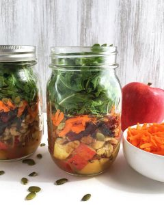 Apple, Walnut & Pepita Mason Jar Salad
