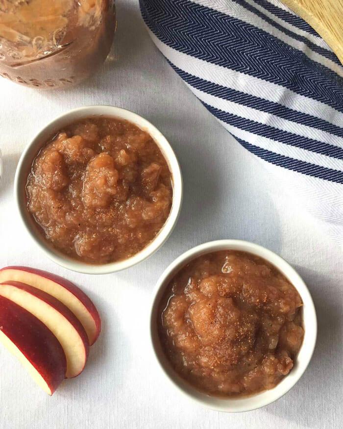 Easy Slow Cooker Applesauce Recipe - No Sugar