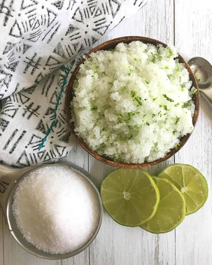 Homemade Lime and Sea Salt Body Scrub