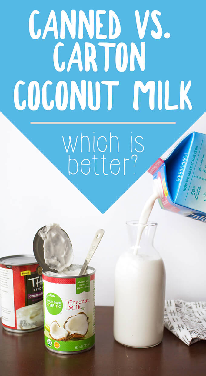 Canned vs. Carton Coconut Milk: Which is better? A breakdown of ingredients and packaging in terms of health and eco-friendliness.