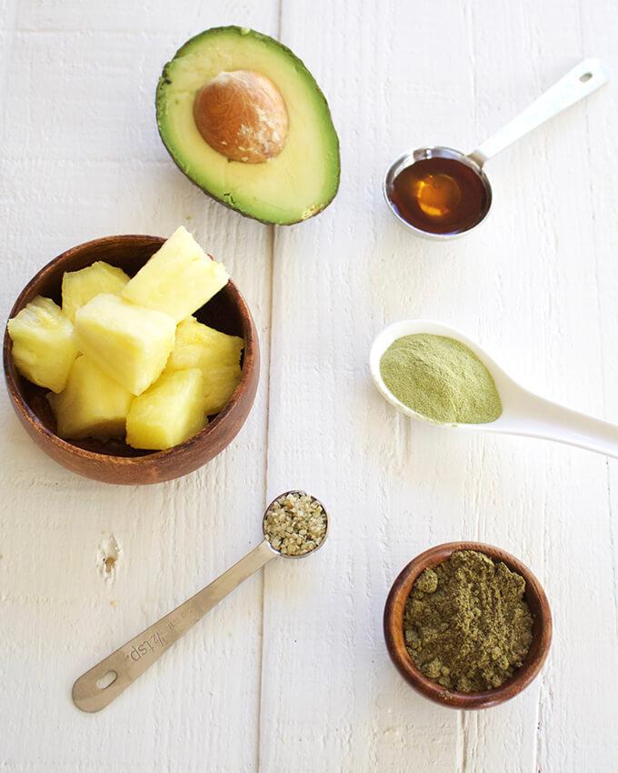Vegan Hemp Protein Smoothie with Matcha & Avocado