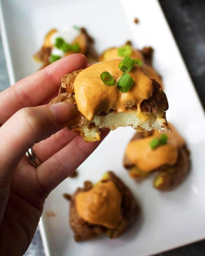 Smashed Potato Vegan Nachos