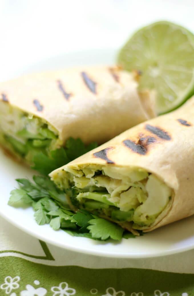 Vegan Grilled Goddess Wraps