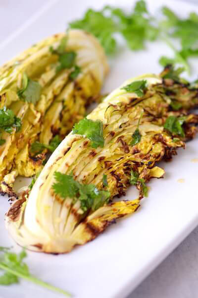 Grilled asian cabbage