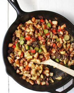 Bean, Potato, & Veggie Vegan Breakfast Hash