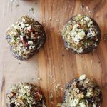 Vegan Stuffed Mushrooms make for a tasty holiday appetizer!