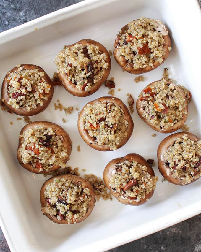 Vegan Stuffed Mushrooms make for a tasty appetizer!