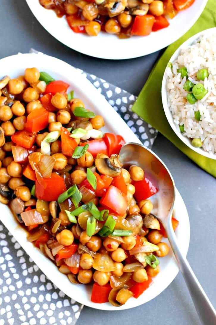Oil-Free Vegan Recipes - Chickpea Stir Fry