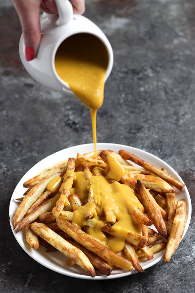 Healthy Vegan Cheese Sauce made with Squash - Oil-Free, Nut-Free