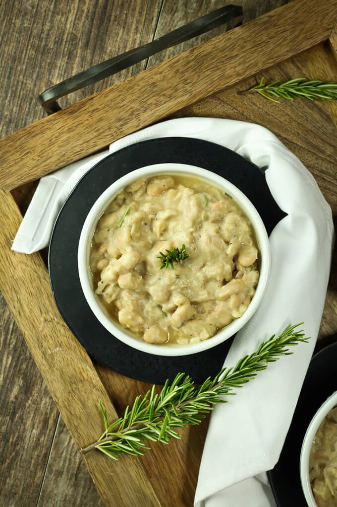 Vegan Copycat Recipes - Rosemary White Beans