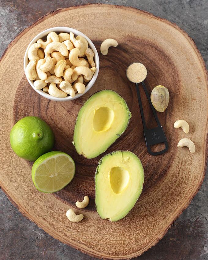 Vegan Cashew Avocado Crema