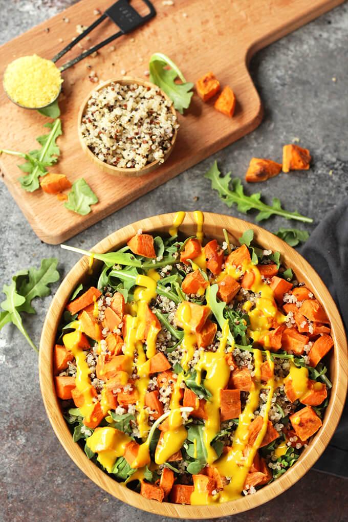 Sweet Potato Quinoa Salad - healthy vegan salad recipe