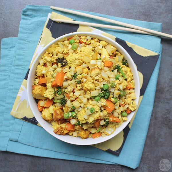 14 Healthy Vegan Cauliflower Recipes - Cauliflower Fried Rice