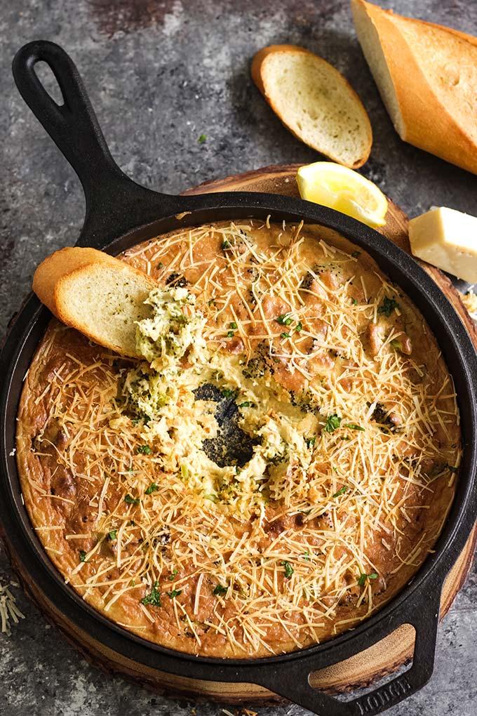 creamy hot broccoli dip