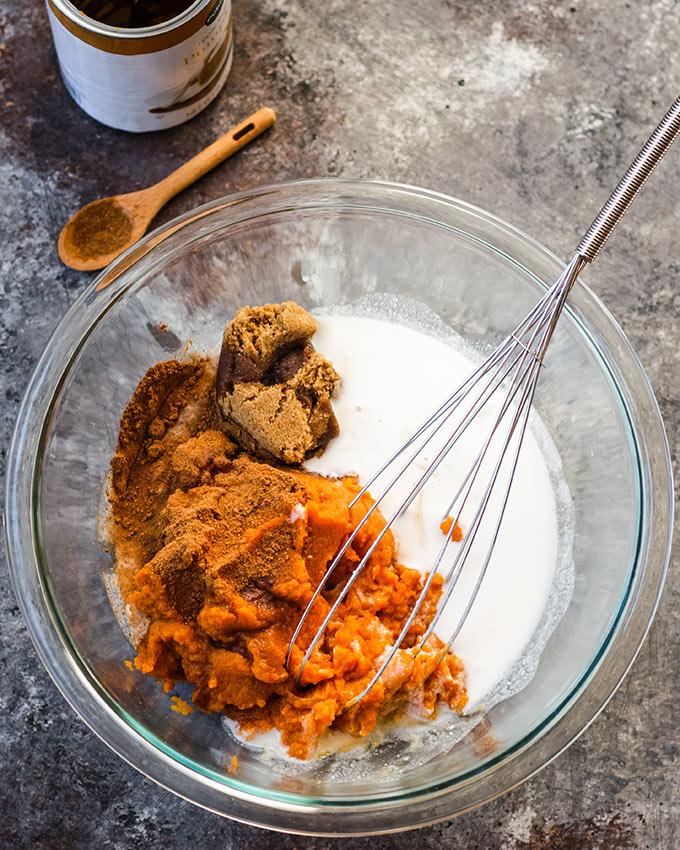 vegan pumpkin pie filling