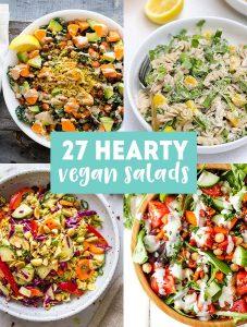 27 Hearty & Healthy Vegan Salad Recipes