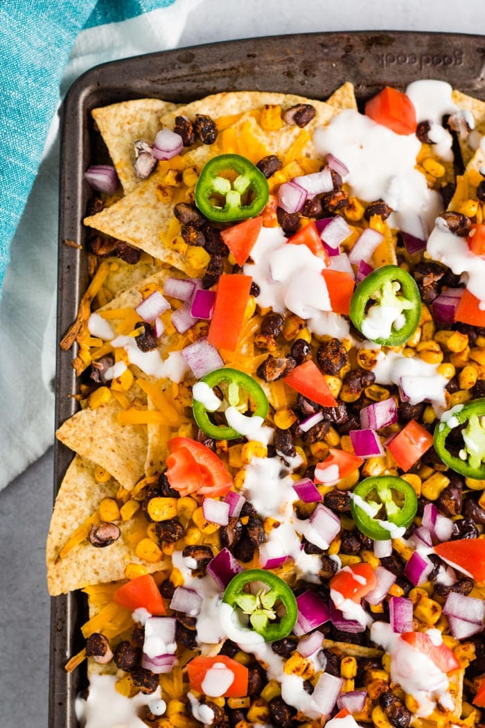 Vegan Sheet Pan Nachos