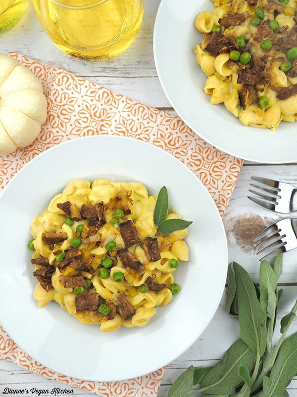 Vegan Pumpkin Pasta Carbonara