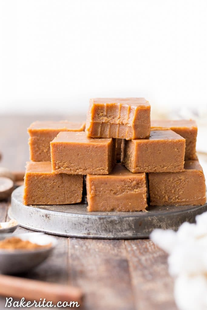 Raw Vegan Pumpkin Spice Fudge (Gluten Free + Paleo) • Bakerita