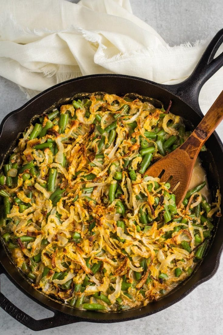 After some reader requests, I made this healthy green bean casserole recipe last year. It is a TOTAL hit. You can't even tell it's dairy-free and oil-free.