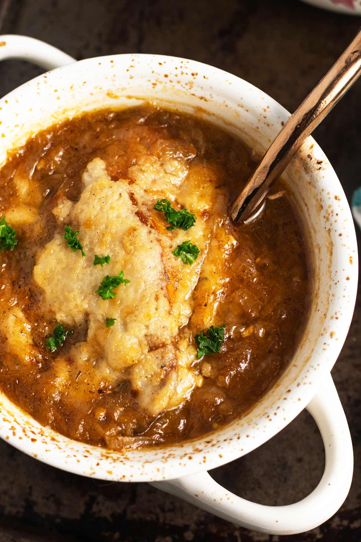 Luscious Vegan French Onion Soup
